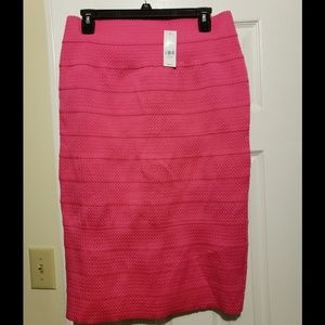 Hot Pink Pencil Skirt with Back Split
